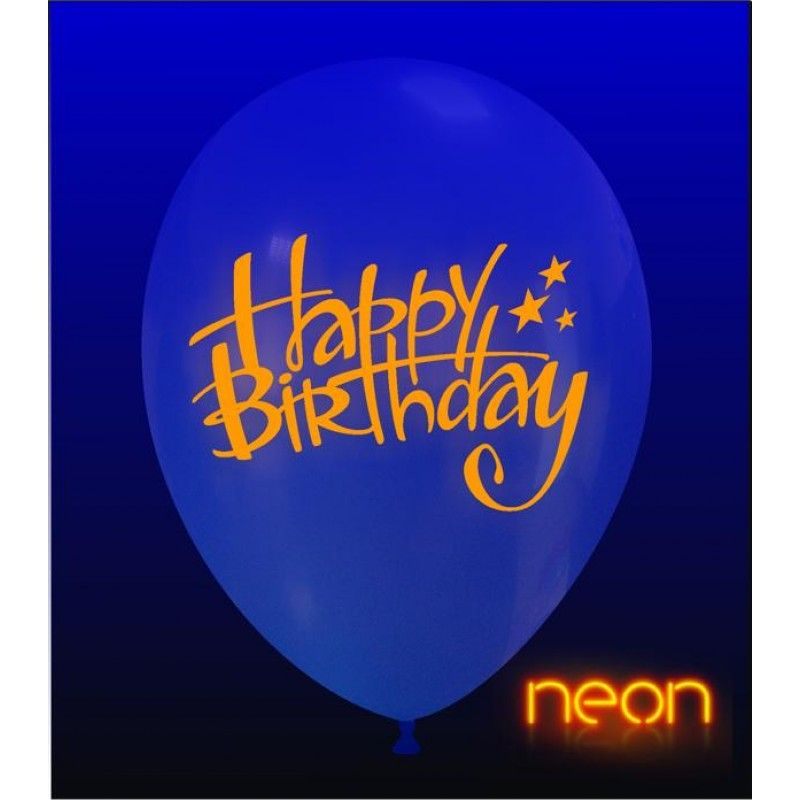 "12"" Happy Birthday Neon"